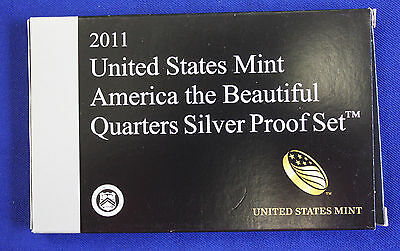 2011-s SILVER. U.S. Mint made America the Beautiful  QUARTERS  proof Set