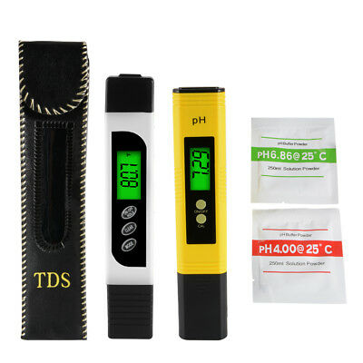 Digital PH Meter TDS Tester Aquarium Pool Hydroponic Water Quality Monitor BI716