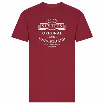 Mens Built in The 60's Slogan Funny Gift Joke Novelty Tee T-Shirt - Red