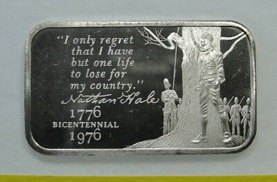 Nathan Hale ~ Madison Mint  ~ One Troy Ounce .999 Fine Silver Bar