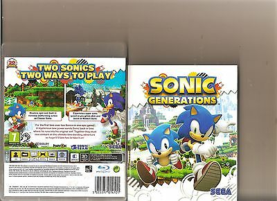 Sonic Generations Playstation 3 Ps3 Ps 3 Hedgehog