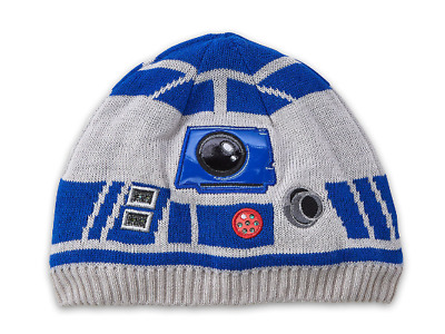 Disney Star Wars R2D2 R2-D2 Knit Beanie Hat Cap for kids LIGHT-UP 7058a6c6e77f