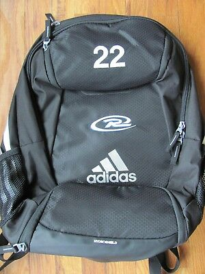 6e50f7b0bc2 adidas Climaproof Stadium Team Gear Up Backpack Black with Rush Logo    22  shown