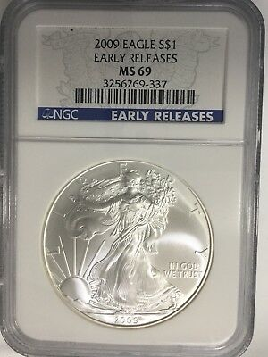2009 Silver American Eagle Early Releases (NGC-MS69) #228