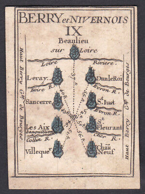 1780 Nivernais Frankreich playing card carte a jouer Spielkarte cartes cards