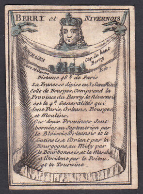 1780 Nivernais Bourges France playing card carte a jouer Spielkarte cards cartes