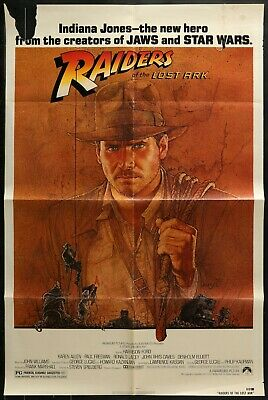 Harrison Ford RAIDERS OF THE LOST ARK  ORIGINAL 1981 1-SHEET MOVIE POSTER 27x41