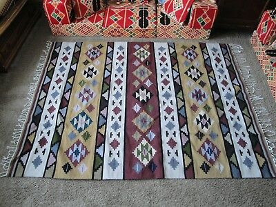 Authentic handmade Wool Egyptian kilim rug large new Ethicly sourced