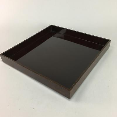Japanese Lacquer ware Tray Wood Red Obon Makie Inlay Square Vtg Nurimono LW999