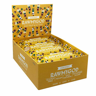 Rawmygod Vegane Snack Energieriegel 12 x Coconut  Just Nuts & Fruits Glutenfrei