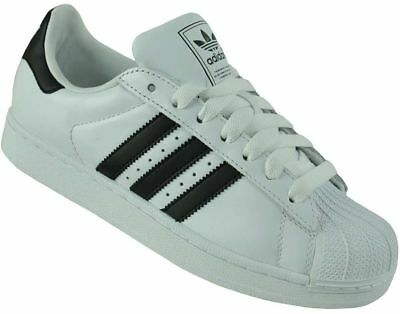 Adidas Superstar II Trainers Originals Trefoil Men's Shoes Sneaker White/Black