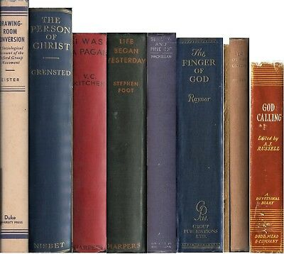 Set of 9 Oxford Group Books pre- Alcoholics Anonymous AA Book I Was A Pagan