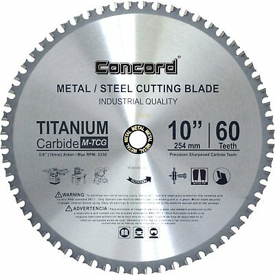MCB1000T060HP Circular Saw Blades 10-Inch Teeth TCT Ferrous Metal Cutting