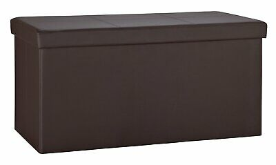 Argos Home Extra Large Faux Leather Sched Ottoman Black