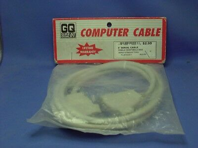 6' Serial Cable Male/Female  DB25 Wired Straight Through