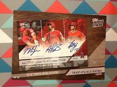 TN-9 Mike Trout Shohei Ohtani Pujols Angels 5x7 #/49 made 2019 Topps Now Review