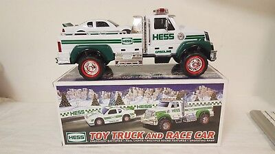 New In Box Hess 2011 Toy Truck And Race Car Vehicles Collectibles Mint