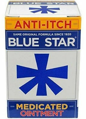 New Blue Star Anti-Itch Medicated Ointment Soothing Itch Relief 2 oz