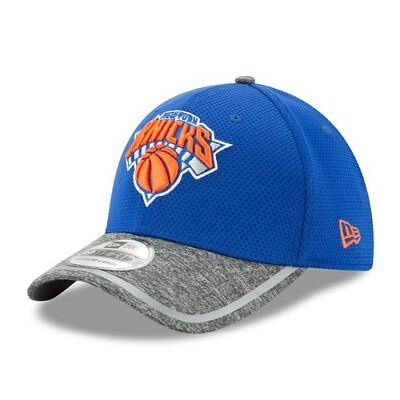 765023a2442 New York Knicks New Era Training 39THIRTY Flex Hat - Blue Heathered Gray