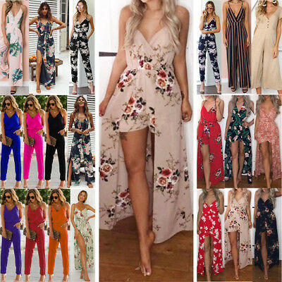 Fashion Womens Clubwear Summer Playsuit Bodycon Party Jumpsuit Romper Trousers