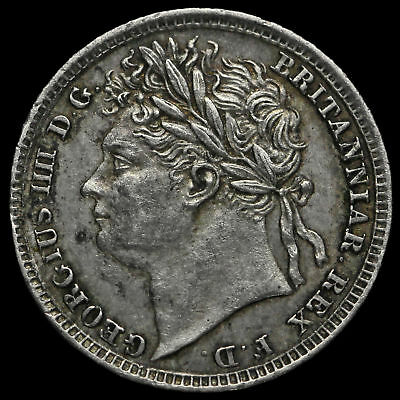 1829 George IV Milled Silver Maundy Penny