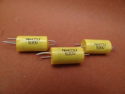 20 x 0.047 uF / 630 Volt 5% Polyester Axial CAPACITOR  Valve Tube Radio