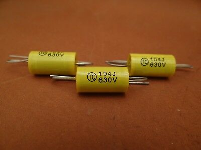 VALVE TUBE RADIO -- 20 x 0.1 uF / 630 Volt 5% Polyester Axial CAPACITOR