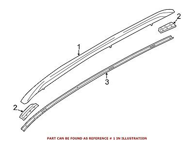 For BMW Genuine Roof Luggage Carrier Side Rail Left 51132990985