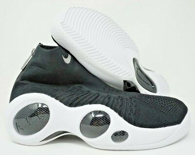 4beb709250a1 Nike Flight Bonafide Mens Basketball Shoes Jason Kidd Black White Size 10.5