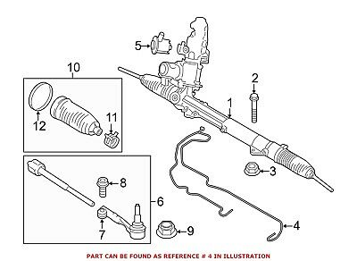 For BMW Genuine Power Steering Cylinder Line 32106782695