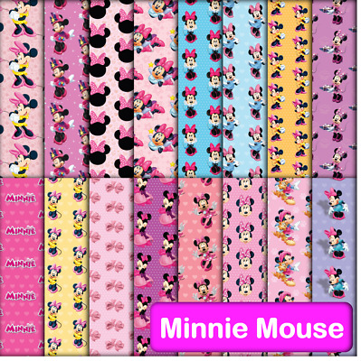 MINNIE MOUSE SCRAPBOOK PAPER - 16 x A4 pages