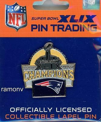New England Patriots Super Bowl XLIX Champs Trophy Pin  seahawks 49 champions W