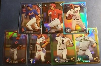 2016 Bowman Chrome and Draft Sky Blue Purple Black Gold Green Refractor You Pick
