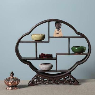 Pretty wood Stand /SHELF For Netsuke / Snuff Bottles Or Curios NR 01