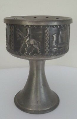 Vintage Norr Norsk Tinn Pewter Candle Holder - Norwegian Pewter