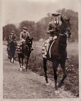 Newmarket Heath Cambridgeshire Horses B. Jarvis cavaliers chevaux old Photo 1934