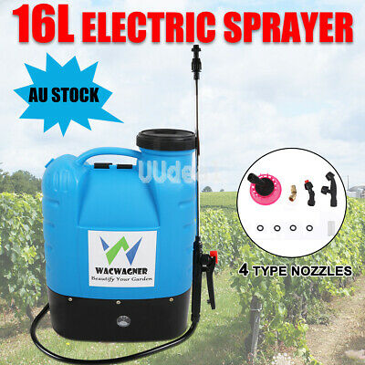 Electric Weed Rechargeable Backpack Sprayer Garden Farm Pump Chemical Spray 16L