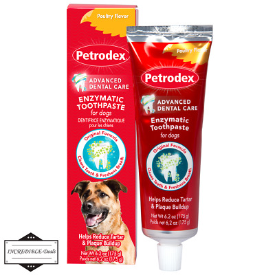 Petrodex Enzymatic Toothpaste Dental Care for Dogs Poultry Flavor 6.2 Oz (175g).
