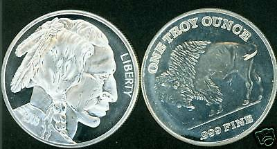 (20) 1 Oz SILVER BULLION ROUND BUFFALO DESIGN MEDALLION