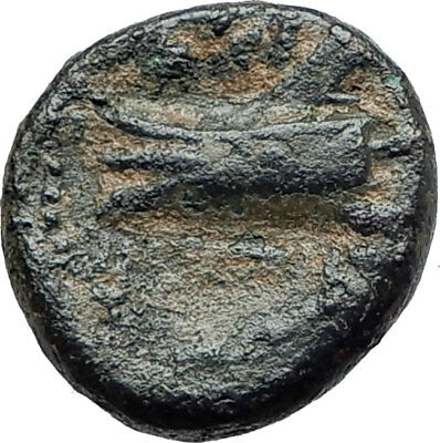 ARADOS in PHOENICIA Authentic Ancient 206BC Greek Coin w ZEUS & GALLEY i75449