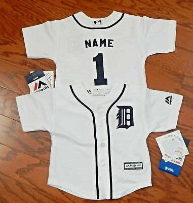 Detroit Tigers  MLB Majestic Infant Replica Jersey add any name &  number
