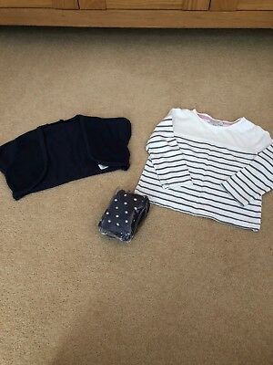 Girls Tops And Tights Bundle Age 18-24 Months From Debenhams