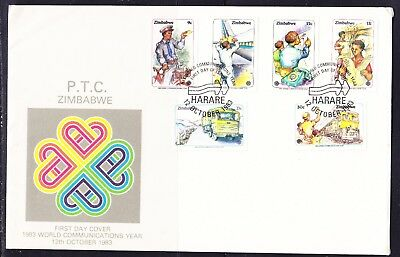 Zimbabwe 1983 Communications Year  LARGE First Day Cover