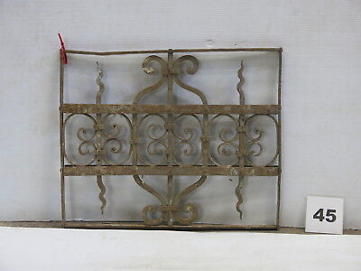 Antique Egyptian Architectural Wrought Iron Panel Grate (E-45)