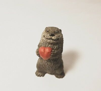 """Otter with heart - (""""I Love You Like No Otter"""" mini figure) Valentine's special"""