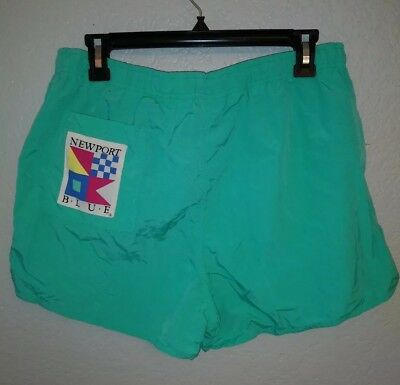 VINTAGE 1980's NEWPORT BLUE PREPPY SWIM TRUNKS BATHING SUIT sz Medium