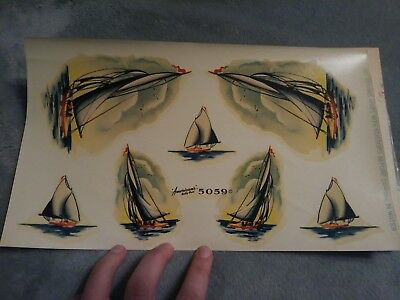 Vintage Americas Betty Best Deco Sailship Decals Nos