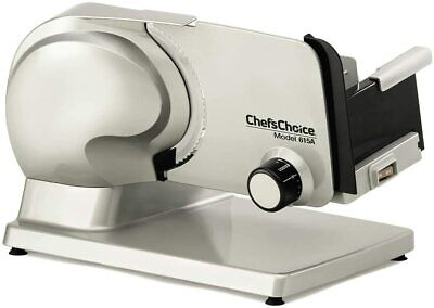 Chefs Choice 120W Electric Food Meat Slicer Model 615A Chef's NEW