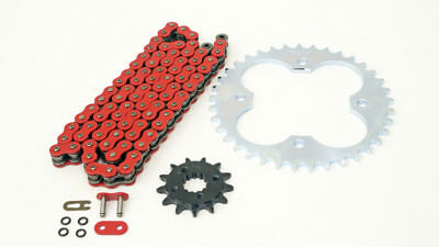 2003 2004 Polaris Predator 500 Red O-Ring Chain and Silver Sprocket 14/37 94L