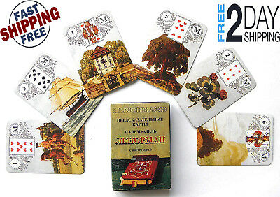 New Lenormand Fortune-Telling Cards a Deck of 36 cardboard-Russian-Cards50x70 mm